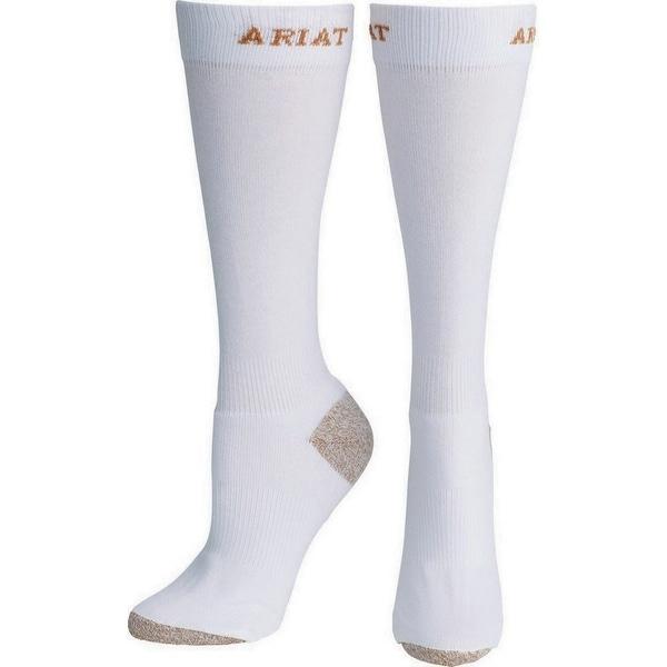 Ariat Socks Mens Sport Boot Slim Ultra-Breathable White