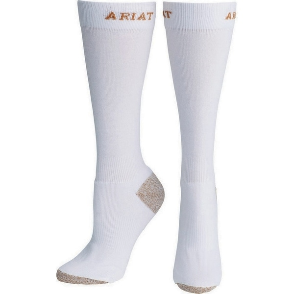 Ariat Socks Womens Western Heavy Duty Boot CoolMax White - One size