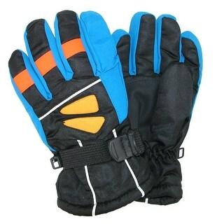 CTM® Kids' 4-7 Multi Tone Ski Gloves