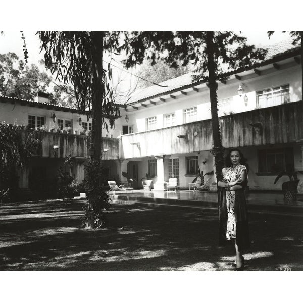 cd8a6f866 Shop Dolores Del Rio Posed Under the Tree in Black and White Photo Print -  Free Shipping On Orders Over  45 - Overstock - 25374072