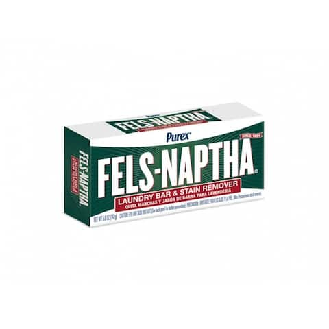 Purex 04303 Fels-Naptha Heavy-Duty Laundry Bar & Stain Remover Soap, 5.0 Oz