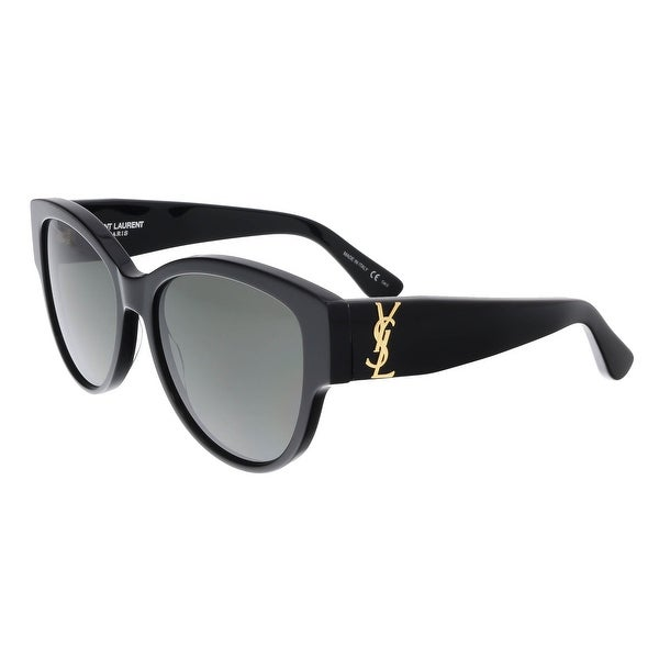94277c04db72f Shop Saint Laurent SL M3-002 Black Cat Eye Sunglasses - 55-16-140 ...