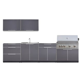 NewAge Products Outdoor Kitchen 136 Inch W x 24 Inch D Piece 7 Set (3 options available)
