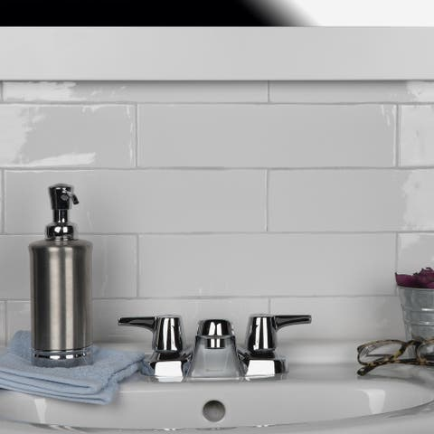 SomerTile 3x12-inch Gloucester Bianco Ceramic Wall Tile