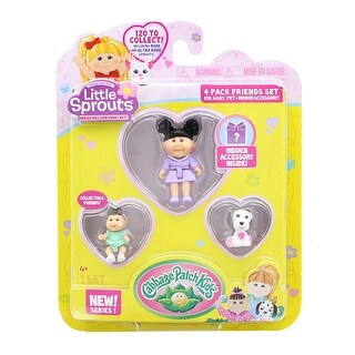 Little Sprouts 4-Pack Friends Set w/ Morgan Paisley, Autumn Bryn & Sarge - multi