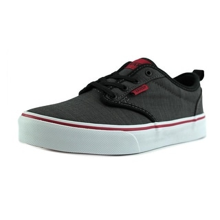 Vans Atwood Slip-On Youth Round Toe Canvas Black Skate Shoe