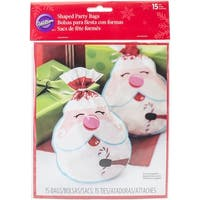 Candy Cane - Shaped Bags 15/Pkg