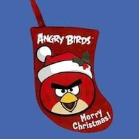 "Angry Birds 6.5 Red Bird Miniature Applique Stocking"""
