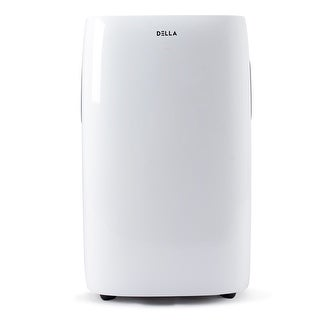 DELLA 14000 BTU Portable Air Conditioner Heater Dehumidifier Fan Self Evaporating System w/ Remote Control & LCD Display