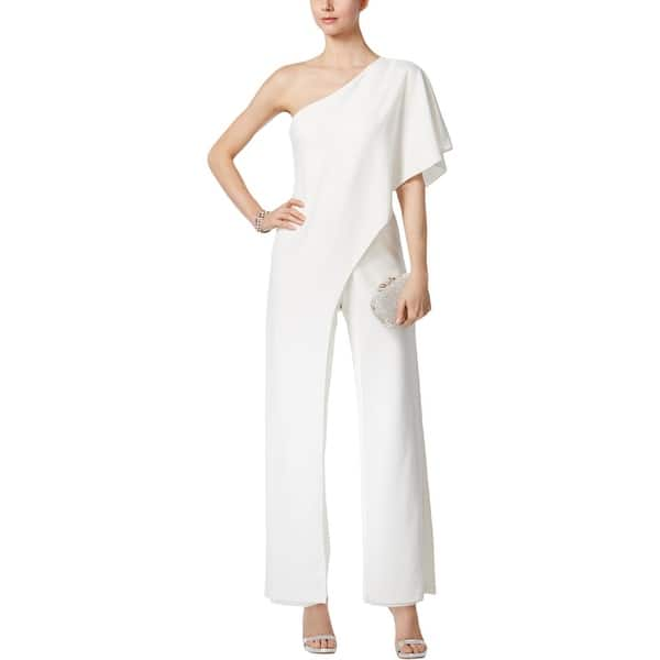 1494e55f73b2 Shop Adrianna Papell Womens Jumpsuit One Shoulder Draped - Free ...