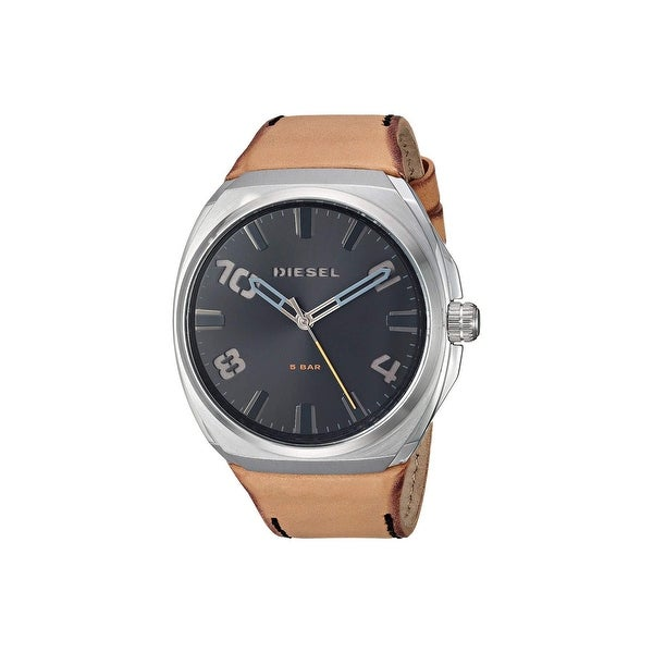 Diesel Men's DZ1883 Stigg Silver-Tone Stainless Steel Diel And Brown Leather - 1 Size. Opens flyout.