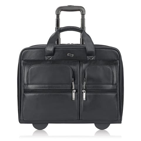 Solo Classic Leather Rolling Case,Black Classic Leather Rolling Case