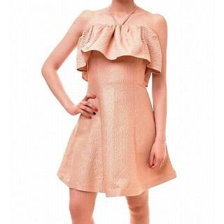Keepsake Womens Large Ruffle Popover Sheath Dress