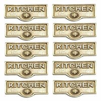 10 Switch Plate Tags KITCHEN Name Signs Labels Solid Brass   Renovator's Supply