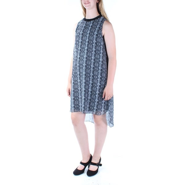 2eb6d32166ecb Shop RACHEL ROY Womens Gray Animal Print Sleeveless Crew Neck Below The  Knee Hi-Lo Dress Size  L - Free Shipping On Orders Over  45 - Overstock.com  - ...
