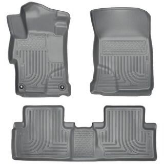 Husky Weatherbeater 2014-2015 Honda Civic All Model Grey Front & Rear Floor Mats/Liners