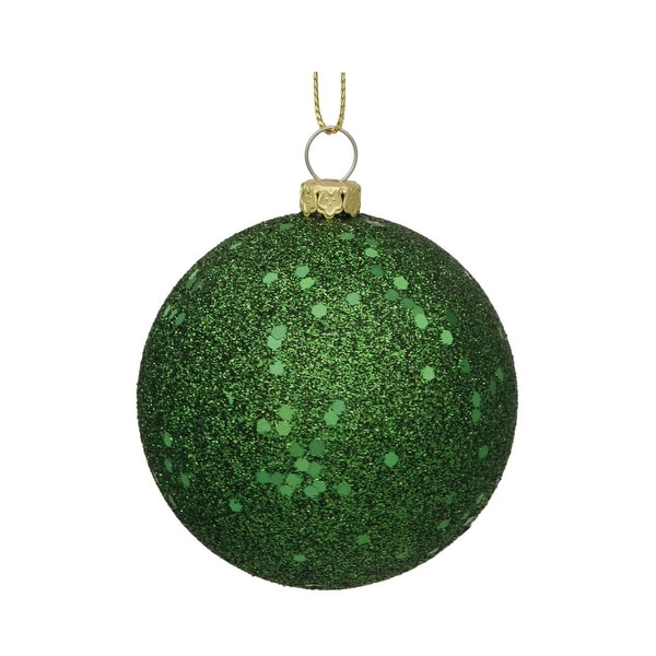 "6"" Emerald Sequin Finish Ball"
