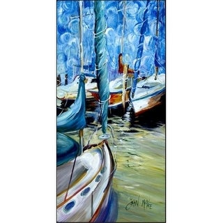 Carolines Treasures JMK1322VRM5828 Sailboat Starlight Sailboats Indoor & Outdoor Runner Mat 58 x 28 in.