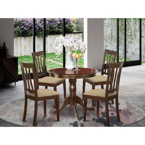 5 Pc small Kitchen Table set-breakfast nook plus 4 Dining Chairs (Finish Option)