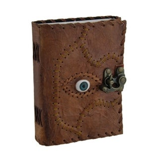 Sacred Eye Stitched Embossed Leather Blank Journal w/Latch