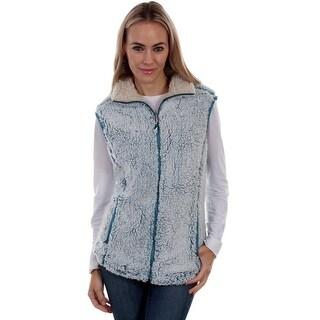 Scully Western Vest Womens Soft Sherpa Faux Fur Zip Closure