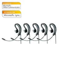 Jabra Voice 250 Mono Microsoft Optimized Corded Headset (5 Pack) w/ Noise Reduction System