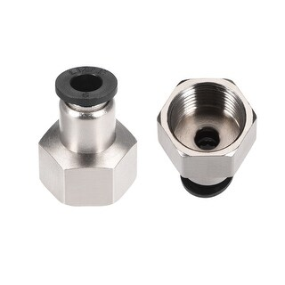 """3/8""""G Female Straight Thread 16.5mm Push In Joint Pneumatic Quick Fittings 2pcs"""