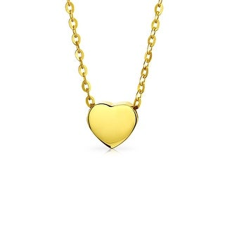 Bling Jewelry 14K Yellow Gold Girls Heart Pendant Necklace