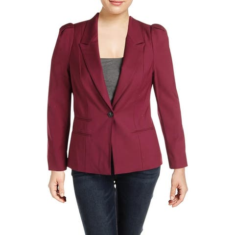 1.State Womens One-Button Blazer Fitted Office