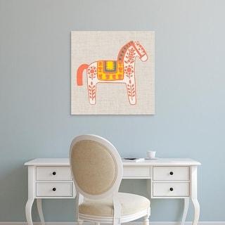 Easy Art Prints Studio W's 'Decorative Burro I' Premium Canvas Art