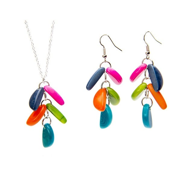Adora Tagua Necklace and Earrings