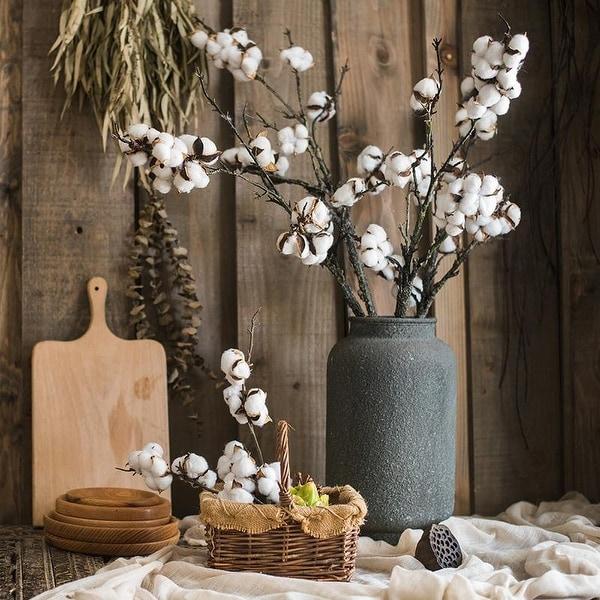 RusticReach Artificial Cotton Stem