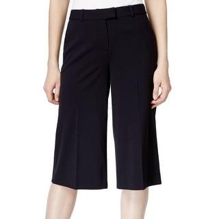 Michael Kors NEW Black Women's Size 6 Solid Straight Wide Dress Pants