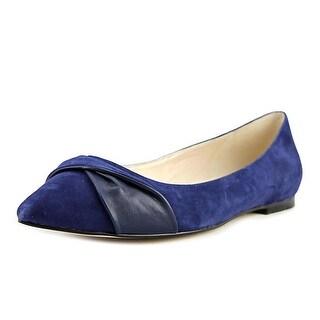 Cole Haan Hadley Det Skimmer Women C Pointed Toe Suede Blue Flats
