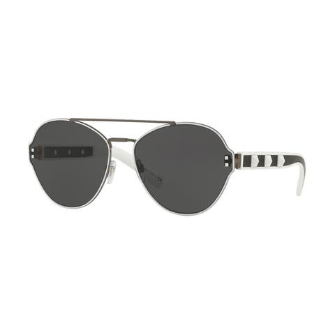 Valentino VA2025 304787 60 Grey/white Woman Irregular Sunglasses