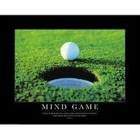 ''Mind Game: Golf Ball'' by Anon Motivational Art Print (22 x 28 in.)