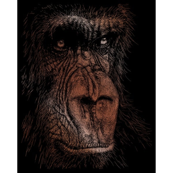 "Copper Foil Engraving Art Kit 8""X10""-The Wise Simian"