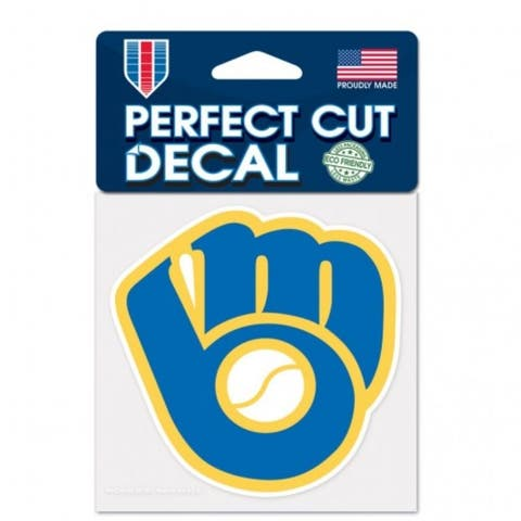Milwaukee Brewers Decal 4x4 Perfect Cut Color