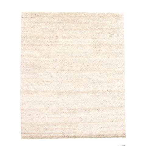 ECARPETGALLERY Hand-knotted Tangier Light Grey Wool Rug - 8'2 x 10'1