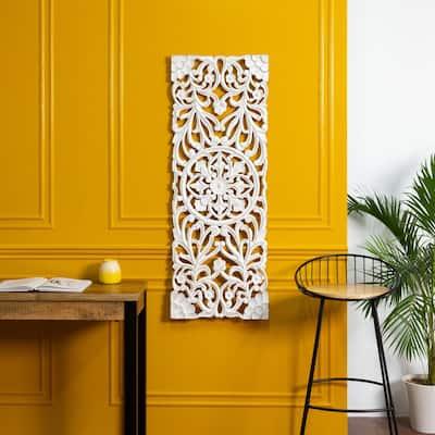 Madeleine Home - All Season Wall Decor Medallion Malito - White