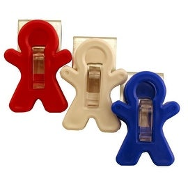 Adams 3303-52-3241 Magnetic Man Clips, Plastic