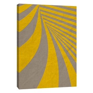 """PTM Images 9-109006  PTM Canvas Collection 10"""" x 8"""" - """"Yellow Swirls B"""" Giclee Abstract Art Print on Canvas"""