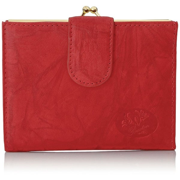 Buxton Heiress Double Cardex Wallet- Red