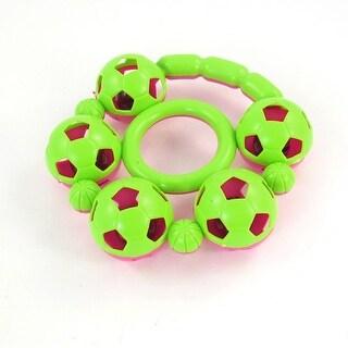 Baby Pink Light Green Plastic Handheld Shaking Jingle Bell Toy