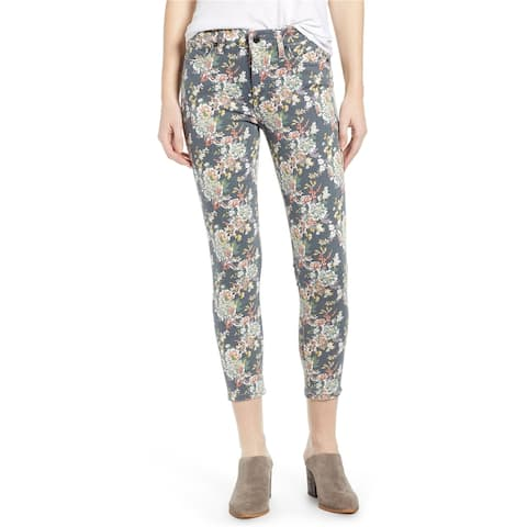 Lucky Brand Womens Ava Floral Print Cropped Jeans
