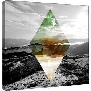 "PTM Images 9-100534  PTM Canvas Collection 12"" x 12"" - ""Celestial Landscape 4"" Giclee Forests and Mountains Art Print on Canvas"