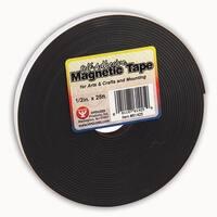 (3 Rl) Magnetic Tape 1/2X25 Self Adhesive