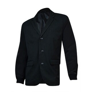 Kenneth Cole Reaction Men's Three-Button Blazer (Black Combo, XXL)
