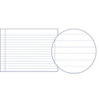 American Paper Converters Manuscript Paper for Grade 1, 12 x 9 Inches, Pack of 500