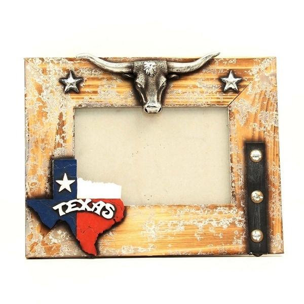 Shop M&F Western Frame Photo Texas Longhorn Stars 5x7 Photo Brown ...